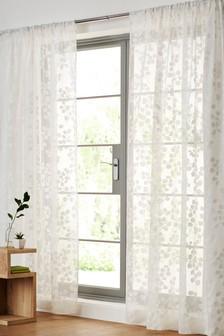 Honesty Leaf Burnout Slot Header Curtain