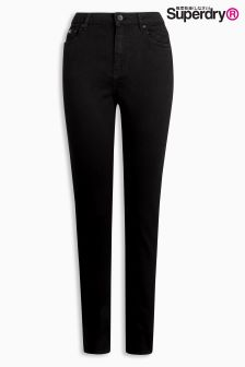 Superdry Black High Waisted Super Skinny Jean