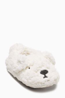 Polar Bear Slippers (Younger Girls)