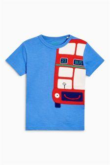 Short Sleeve Bus Appliqué T-Shirt (3mths-6yrs)