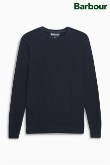 Barbour® Navy Kelp Fisherman Jumper
