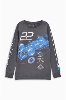 Racing Car Long Sleeve Top (3-16yrs)