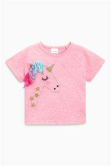 Tassel Unicorn T-Shirt (3mths-6yrs)