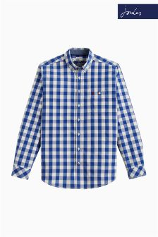Joules Blue Gingham Classic Fit Hewney Shirt
