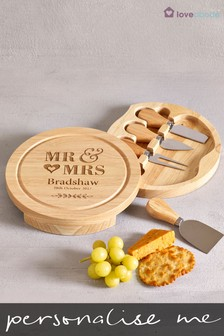 Personalised Mr And Mrs Cheese Board By Loveabode