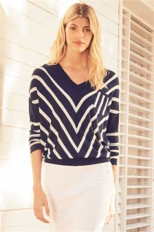V-Neck Chevron Sweater