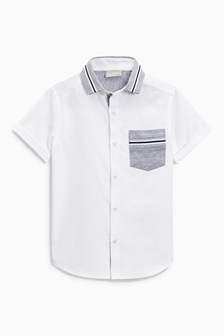 Short Sleeve Jersey Collar Shirt (3-16yrs)