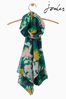 Joules Green Fay Floral Woven Wensley Scarf