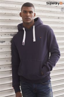 Superdry Navy Orange Label Overhead Hoody