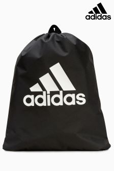 adidas Black Stack Logo Gymsack