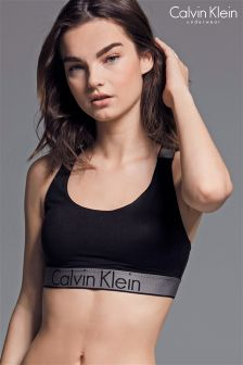Calvin Klein Black Bralette Lightly Lined