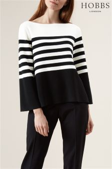 Hobbs Black/Ivory Harbour Stripe Sweater