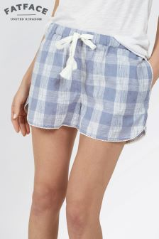 Fat Face Chambray Sketchy Check Racer Short