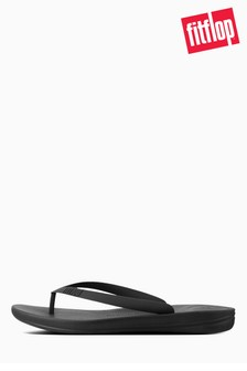 FitFlop™ Black Iqushion Ergonomic Flip Flop