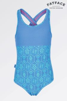 Fat Face Bluebell Sea Geo Swimsuit