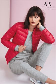 Armani Exchange Red Core Quilted Jacket