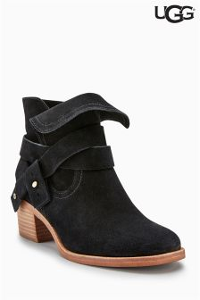 UGG® Black Elora Strap Ankle Boot