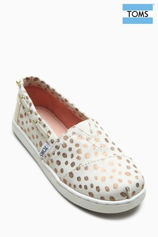 Toms Rose Gold Dots Bimini Shoe