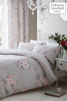 Catherine Lansfield Pink Canterbury Duvet Set