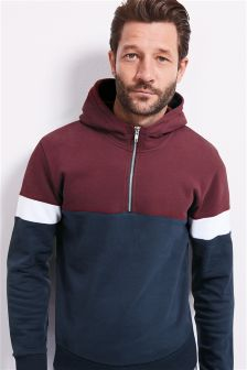 Colour Block Funnel Neck