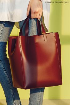 French Connection Burgundy Vero Tote Bag