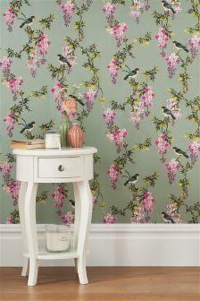 Paste The Wall Oriental Bird Wallpaper