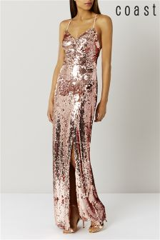 Coast Rose Gold Kadie Sequin Dress
