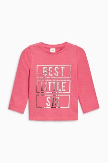 Best Little Sis Long Sleeve T-Shirt (3mths-6yrs)