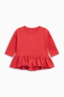 Peplum Long Sleeve Top (3mths-6yrs)