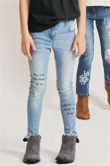 Doodle Quote Skinny Jeans (3-16yrs)