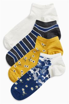 Low Rise Trainer Socks Four Pack