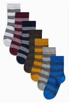 Rugby Stripe Socks Seven Pack (Older Boys)