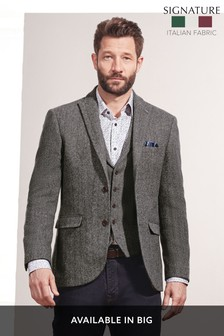 Herringbone Tailored Fit Jacket