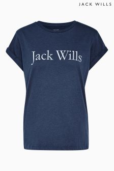 Jack Wills Navy Logo Tee