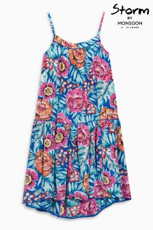 Monsoon Blue Multi Paloma Dress