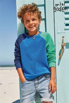 Boden Blue Towelling Sweatshirt