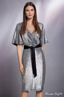Phase Eight Silver Niki Sequin Dress