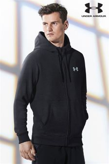 Under Armour Run Black Threadborne Zip Through Hoody