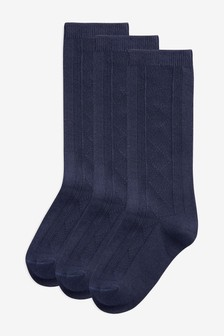 Pointelle Knee High Socks Three Pack (Older Girls)