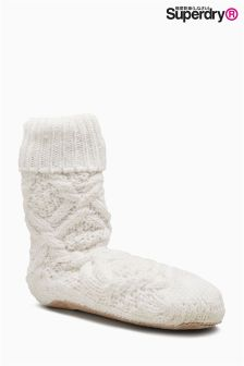 Superdry Nebraska Cable Slipper Sock