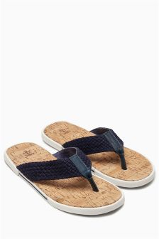 Weave Cork Flip Flops