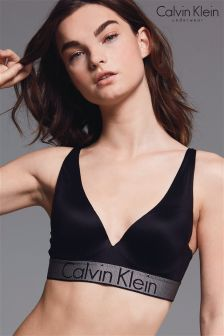 Calvin Klein Black Plunge Push Up Bralette
