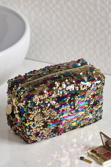 Multicoloured Sequin Make-Up Bag