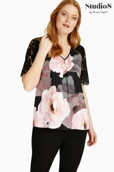 Studio 8 Black/Pink Abby Top