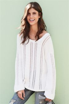 Cable Tie Back Sweater