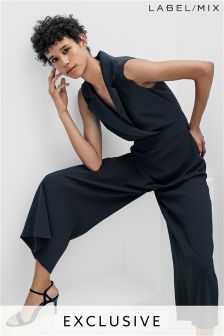 Mix/Osman Tailored Wide Leg Jumpsuit