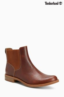 Timberland® Brown Madby Flat Chelsea Boot
