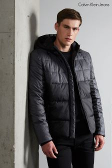 Calvin Klein Grey/Black Hooded Jacket