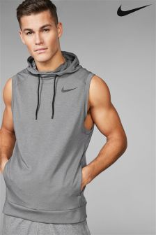 Nike Gym Grey Sleeveless Hoody