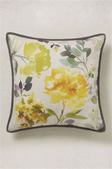 Watercolour Flourish Print Cushion